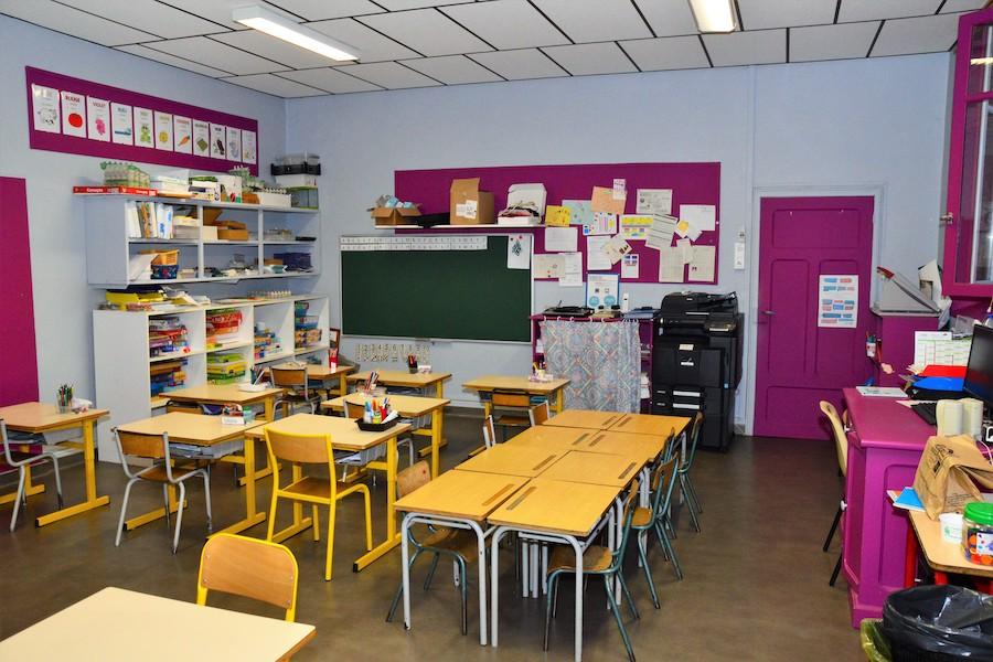 Classe de l'école de Lacroix-Barrez
