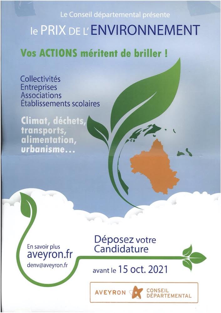 affiche prix environnement